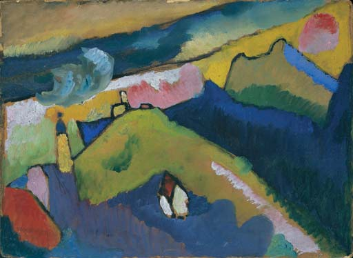 Murnau - Mountain Landscape with Church 1910