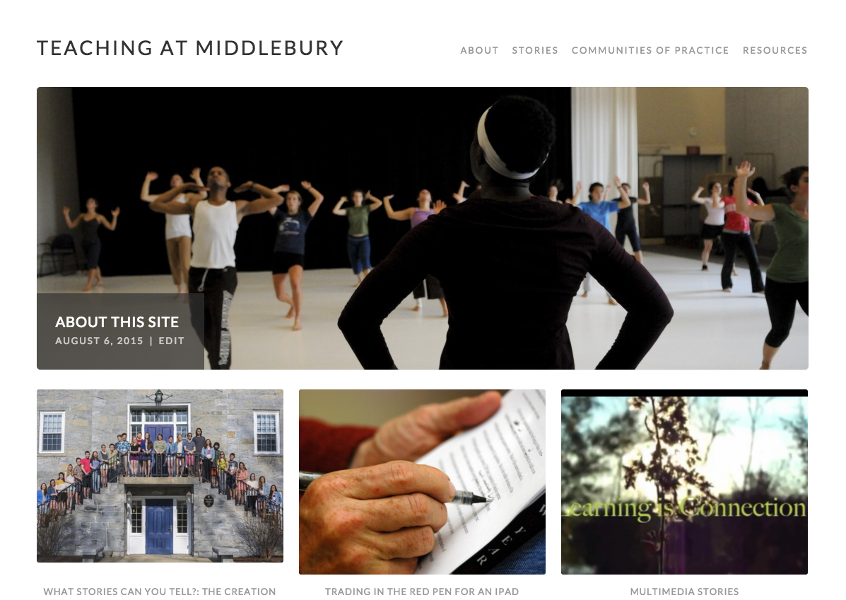 Teaching at Middlebury WordPress site