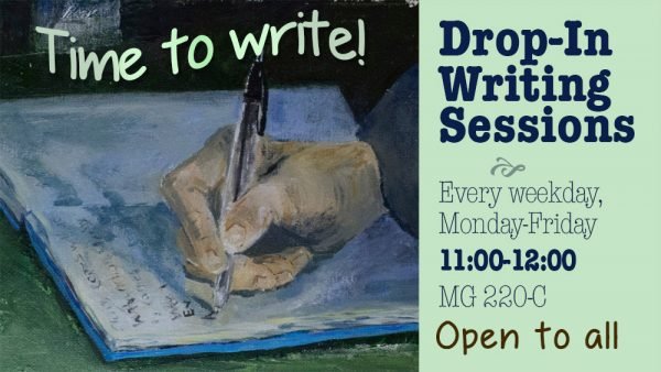 Open Drop-In Writing Group, Spring Semester 2018