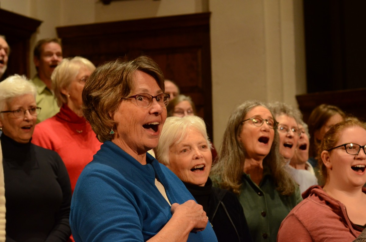Community Chorus in rehearsal