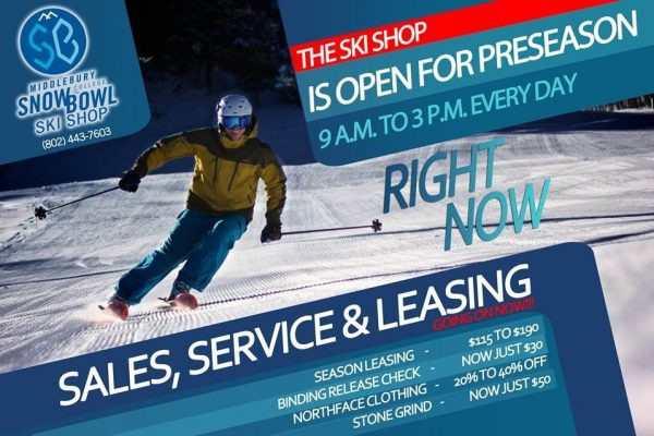 The Middlebury College Snow Bowl Ski Shop is Open!