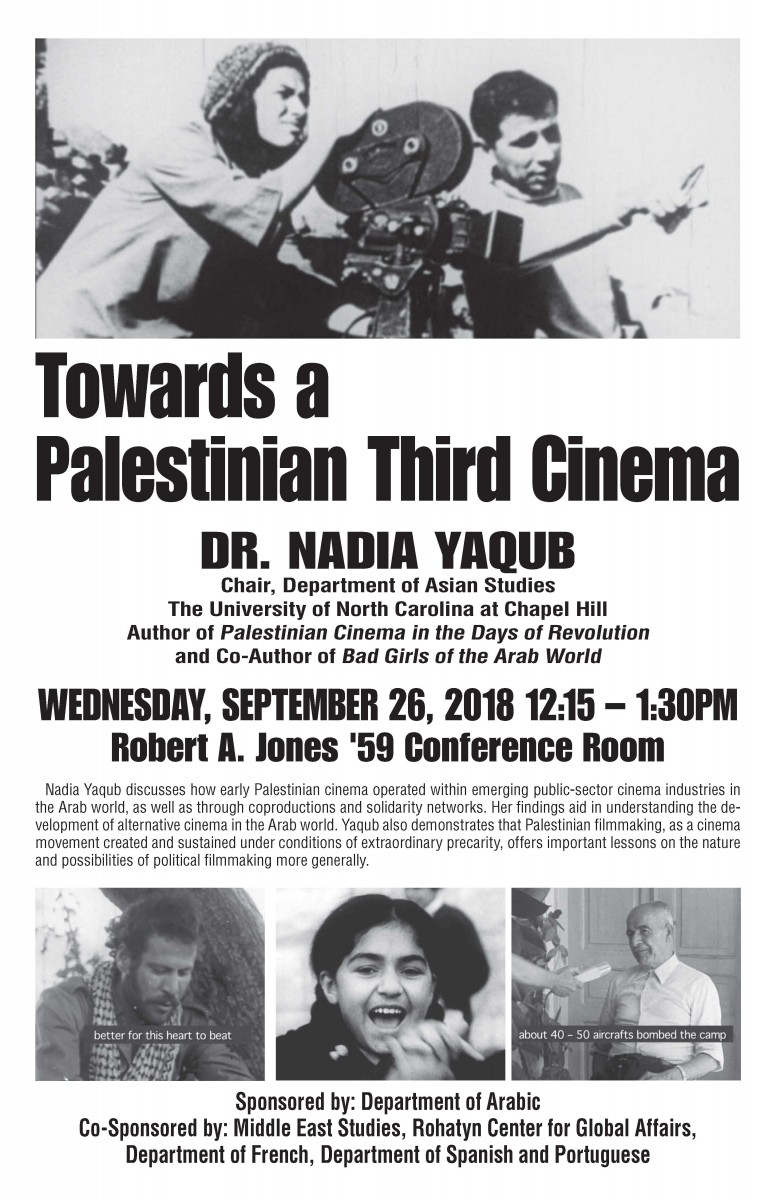 Lecture on Palestinian cinema by Nadia Yaqub