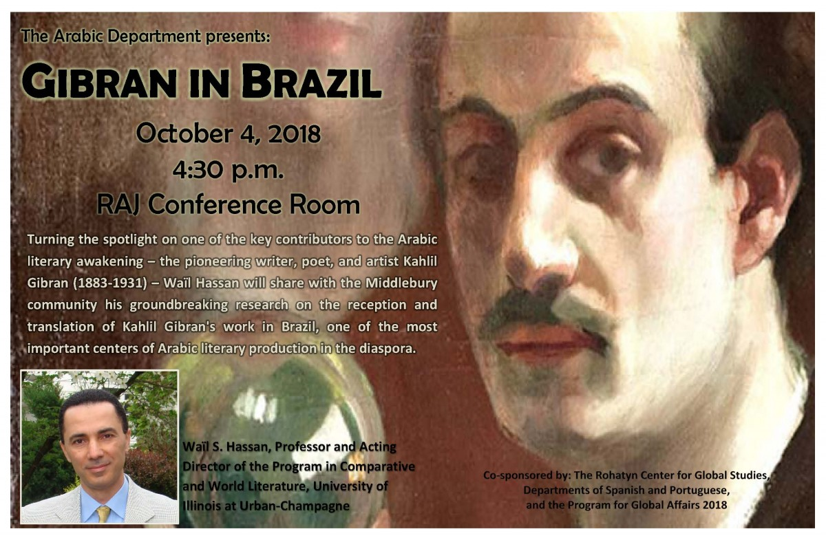 Lecture on Gibran in Brazil by Wail Hassan
