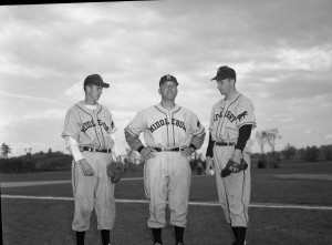 Coach Dick Ciccolella with players, 1950.