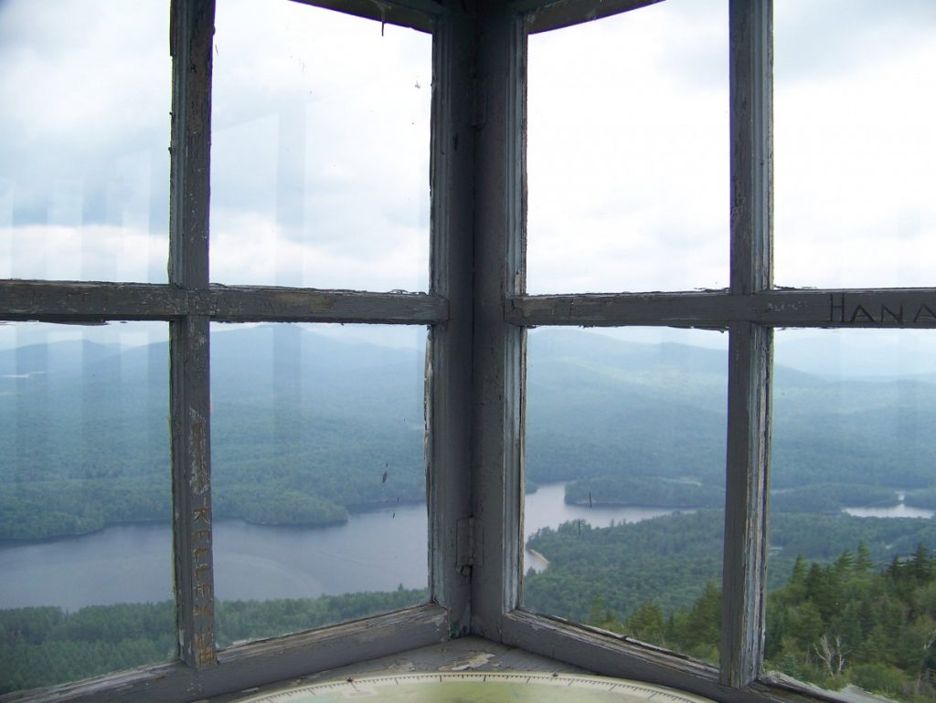 View from the Goodnow Mountain fire tower. Personal collection.