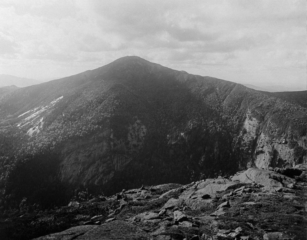 Mount Marcy from the top of Haystack Mountain, 1919. New York State Archives.