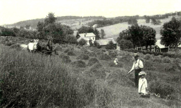 The James family homestead. Date unknown, pre-1907. Source: State Historical Society of Iowa.