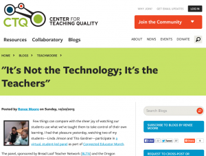 """It's Not the Technology; It's the Teachers"""