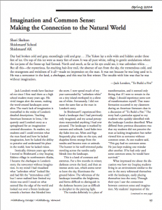 "Click to link to the full text of Sheri Skelton's 2004 article, ""Imagination and Common Sense: Making the Connection to the Natural World."""