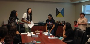 Ty Fierce Metteba presents at the September NCHO Youth gathering.