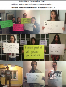 Students share why they stand up to Intimate Partner Violence.