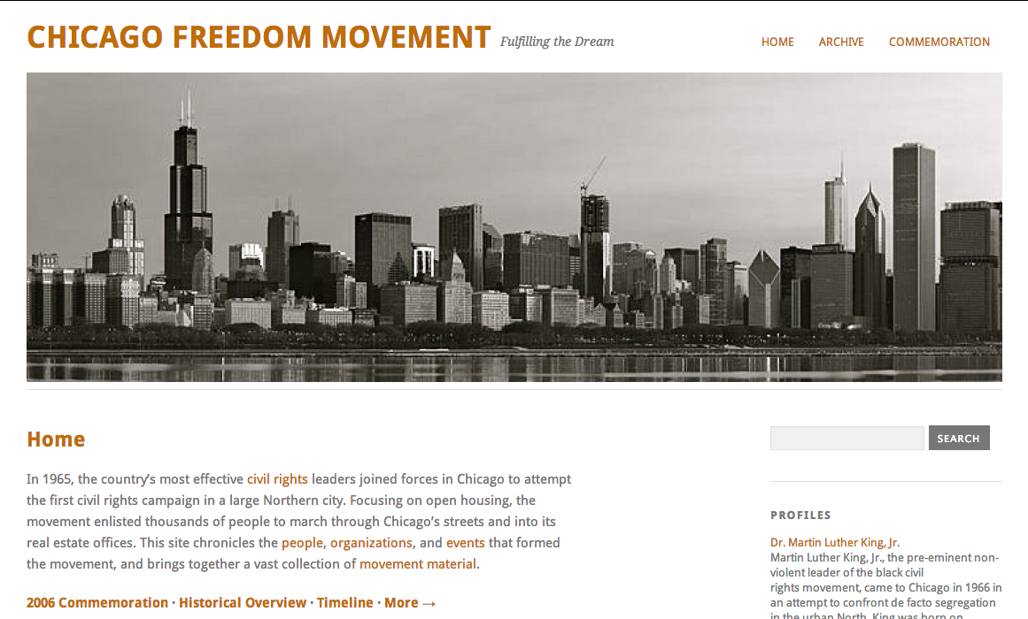 2Chicago Freedom Movement Site