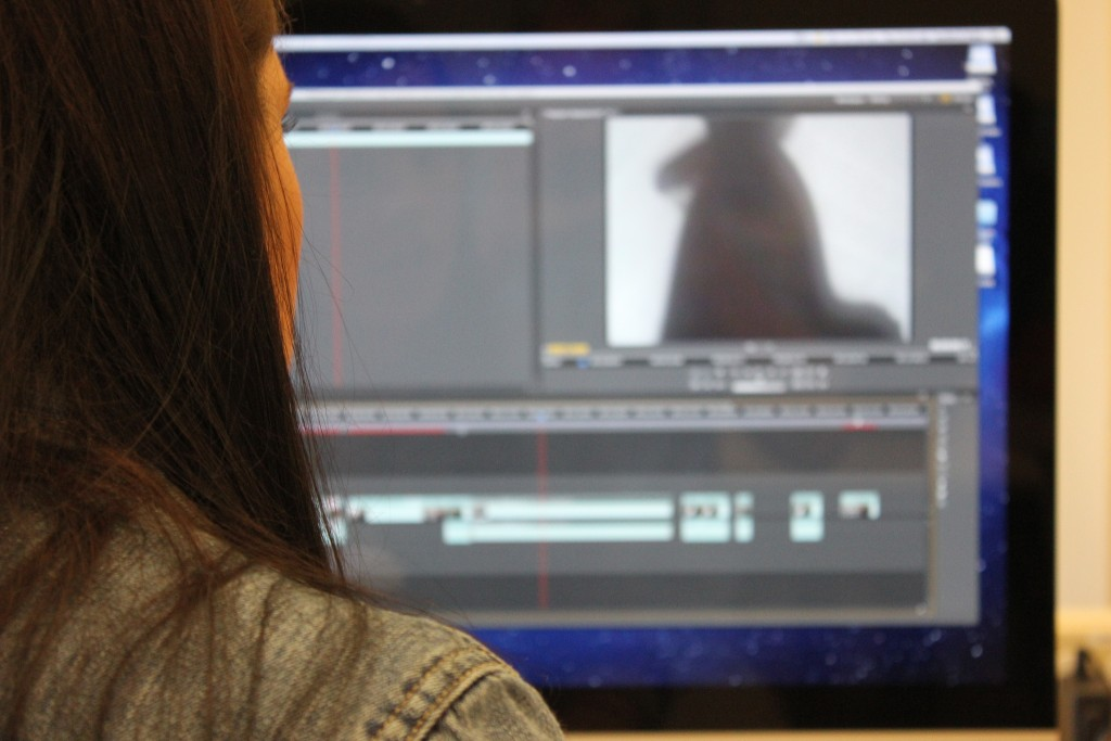 Photo of video editing software on computer screen