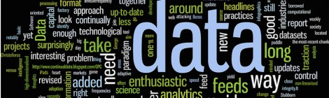 "Word cloud of keywords related to ""data"""