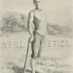 "Illustration titled ""Athletics"" published in the Kaleidescope, 1894 p. 61."