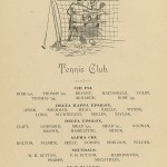 text and drawing for 1891 tennis club