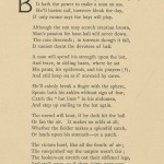 A poem celebrating MIddlebury students' passion for baseball in the late 19th century.