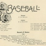1889 baseball roster and record of games