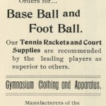 Sporting goods advertisement, The Laurea, 1900