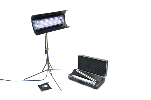 Kino Flo Diva-Lite in Action (our kit comes with 2 lights)