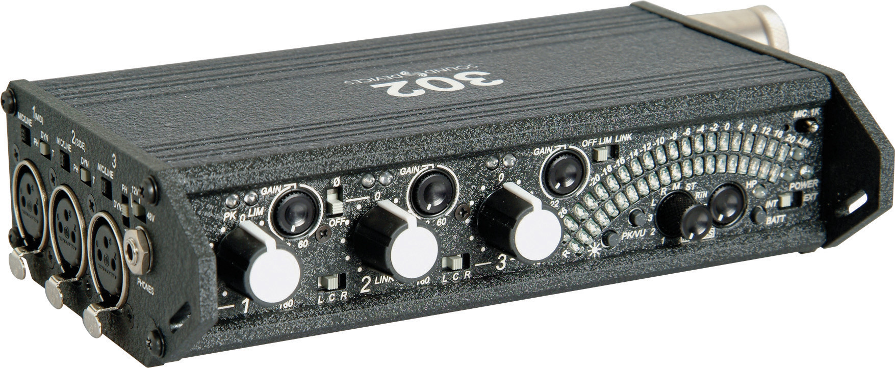 Sound Devices 302 Field Mixer Middlebury Film And Media Production Hub 3 Channel Audio
