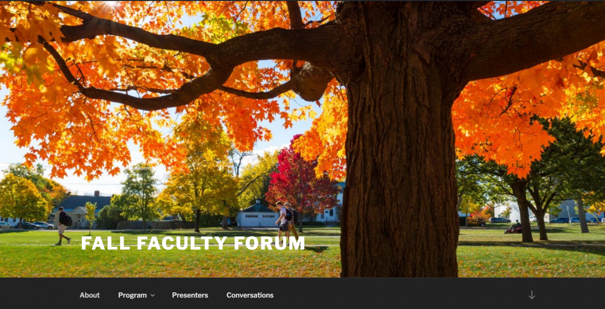 Fall Faculty Forum