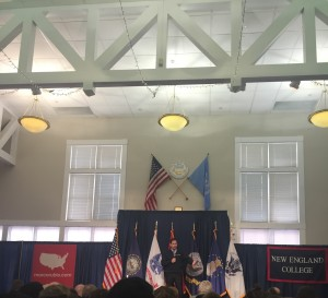 Marco Rubio at New England College for a town hall.