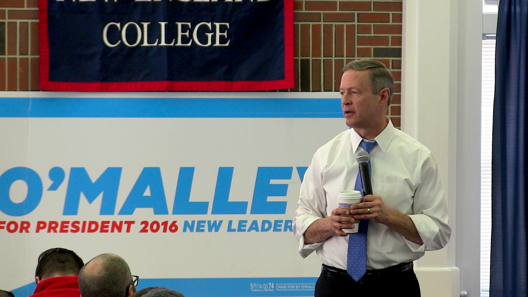 O'Malley speaking to attendees at his town hall. Photo by Andrew Plotch.