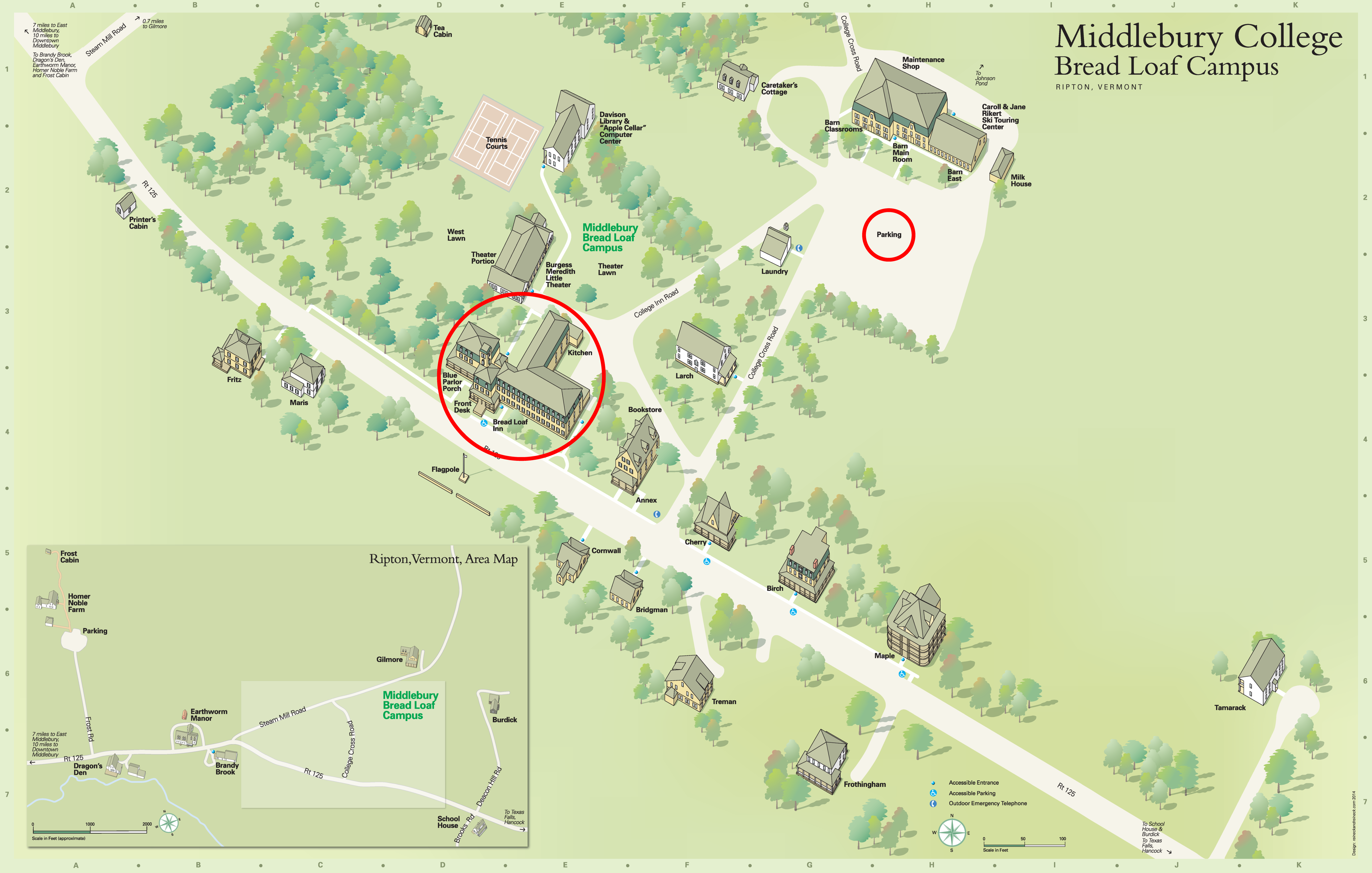 middlebury college campus map Locations Knac Student Research Symposium 2018 middlebury college campus map