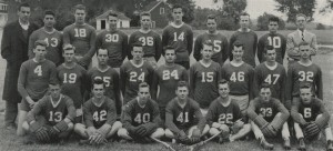 The first official Middlebury lacrosse team in 1949.