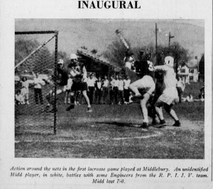 Middlebury's first lacrosse game