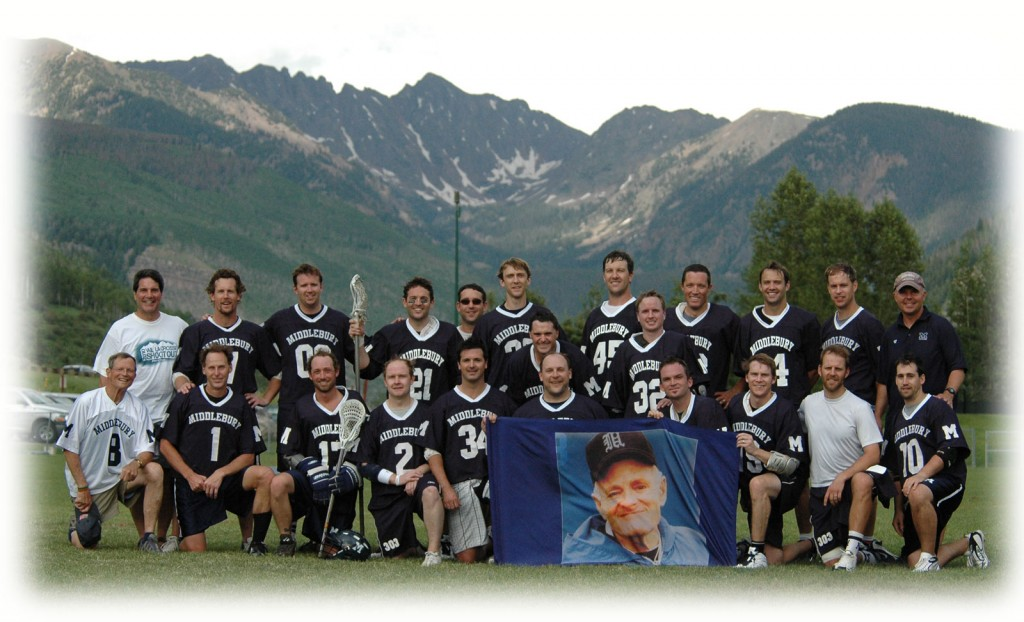 Middlebury Alumni with an image of Pete Kohn in Vail 2010