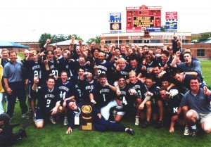 The Middlebury Panthers after winning their first NCAA Division III National Championship vs. Salisbury