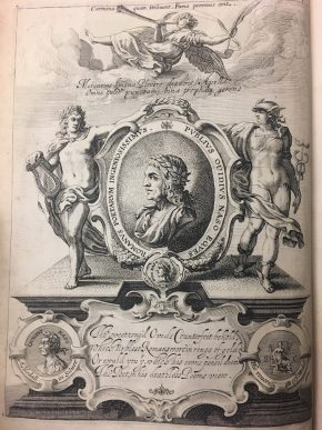 Frontispiece of Ovid from English poet and colonist George Sandys' 1632 translation