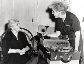Helen Hartness Flanders recording Mrs. John. N. Fairbanks of Springfield, Vt.