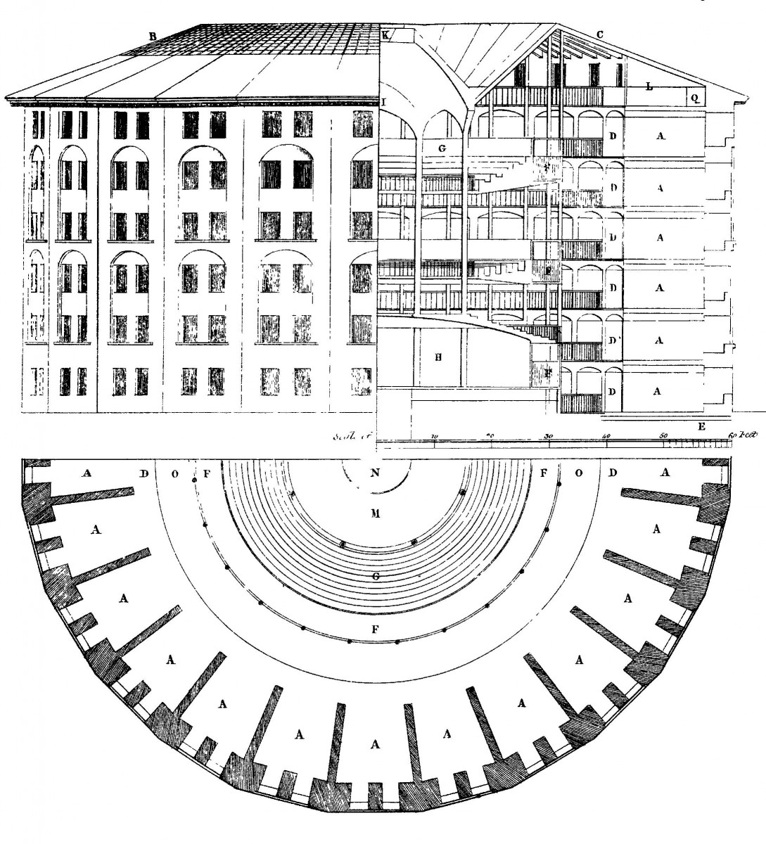 Drawing of a panopticon