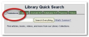 Library Quick Search