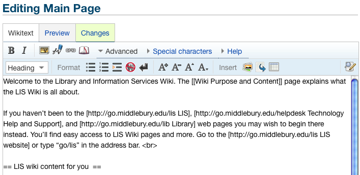 upcoming mediawiki changes library information technology services
