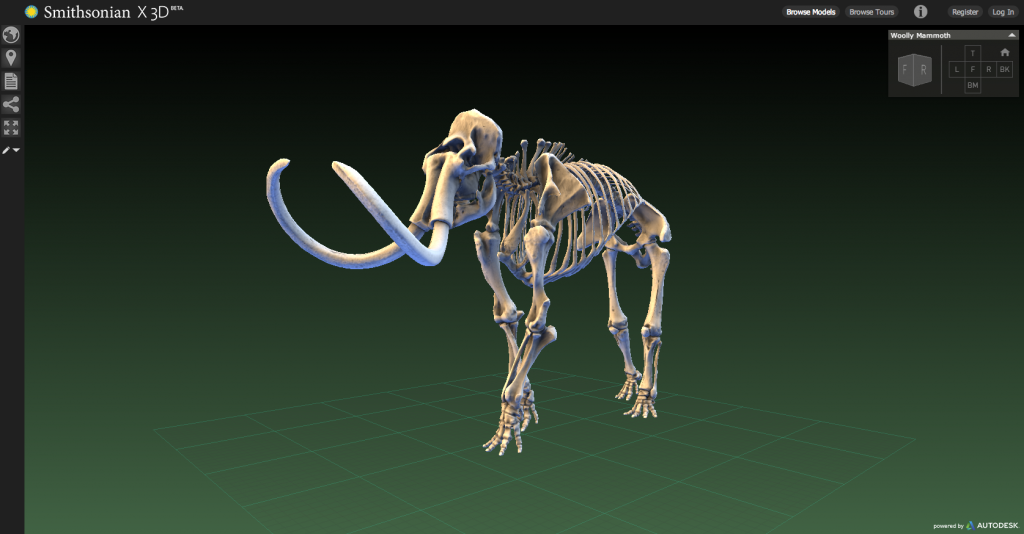 Smithsonian X 3D of a Wooly Mammoth, http://3d.si.edu/explorer?modelid=55