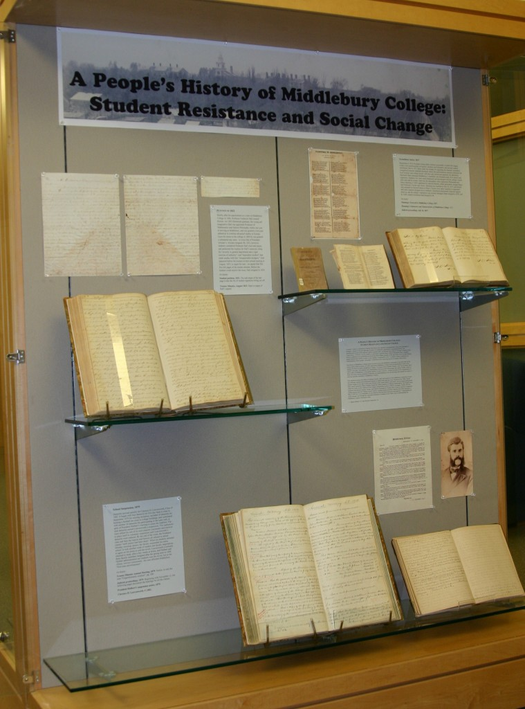 People's History of Middlebury Exhibit