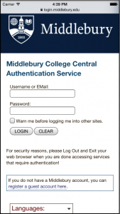 The CAS login screen is now mobile-friendly.