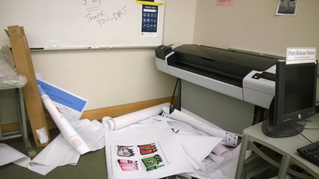 Finals week spring term 2014. Not a pretty day for the plotter.