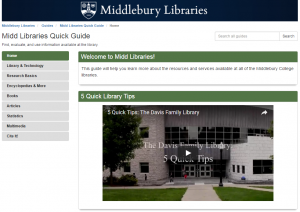 Midd Libraries Quick Guide