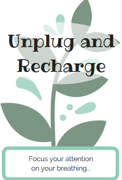 Unplug and Recharge sign