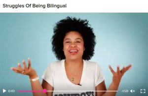A screenshot taken from a Pero Like video of producer Julissa Calderón who often discusses her Dominican heritage in her work.