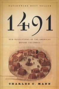 Cover art from the the book entitled 1491 by Charles C. Mann