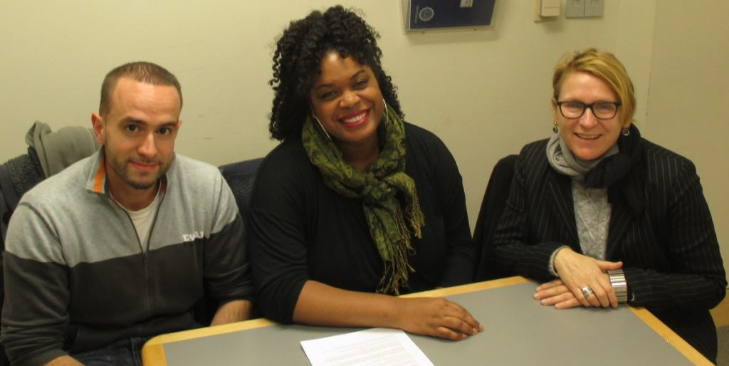 From left to right, Daniel Silva, Katrina Spencer and Lauries Essig