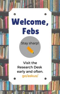 Welcome, Febs!