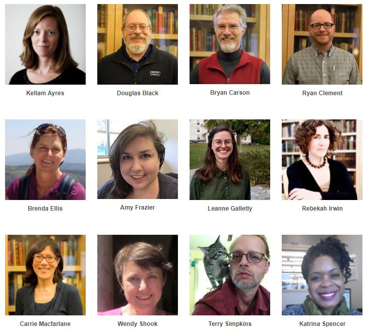 Twelve headshots of librarians