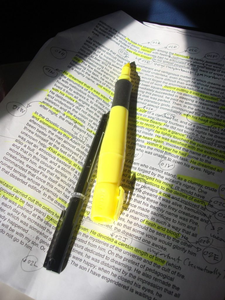 A yellow highlighter
